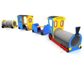 Lokomotief met wagons combinatie