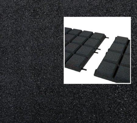 Rubbertegels zwart pen-gat