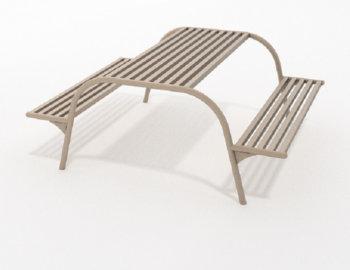Metalen picknicktafel