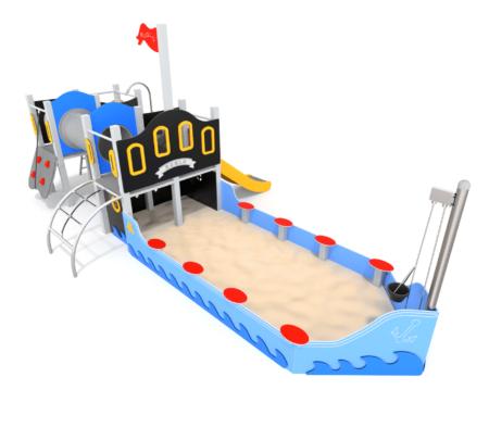 1008 Piratenboot met achtersteven