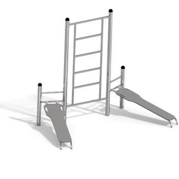7670 Duo ab - benc & ladder RVS Calisthenics..