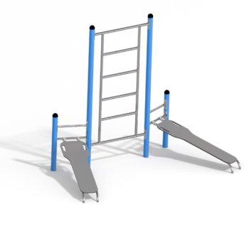 7690 Duo ab - benc & ladder metaal Calisthenics.