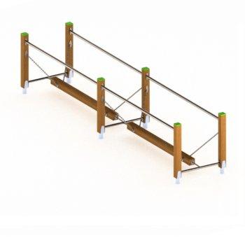 8916 Dubbele balanceerbalk hout.