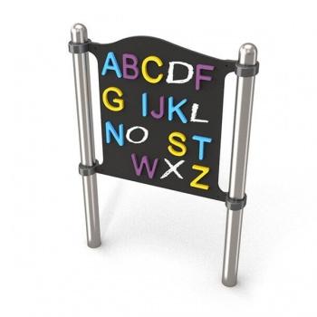 4113 Spelpaneel krijtbord alfabet
