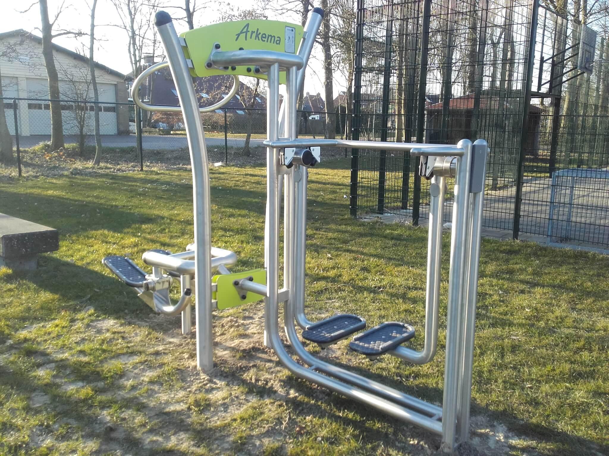 7701/7713 RVS fitness dubbele uitvoering