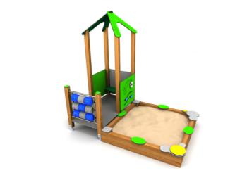 8050 Zandbakhuisje met tictactoe website
