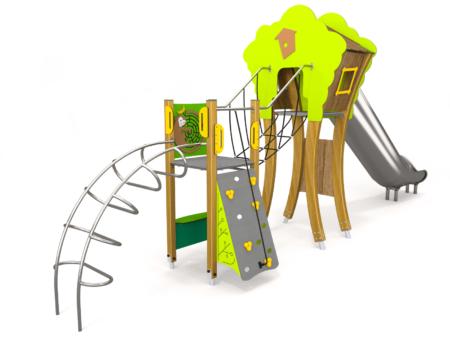 8077 Bosten houten speelhuis