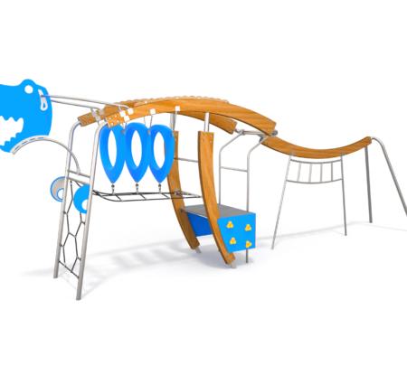 8503 Allosaurus houten klimtoestel