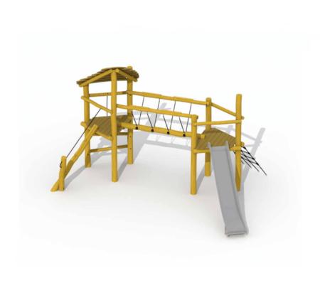 RO501 Keverbrugje met glijbaan