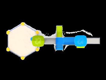 7124 Aurora RVS speeltoestel met zandbak