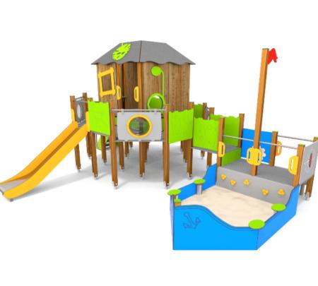 8080 Sandtower houten speeltoestel met zandbak