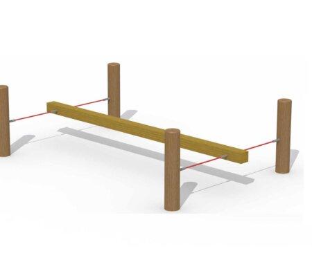 Buffalo Bill houten evenwichtsbalk