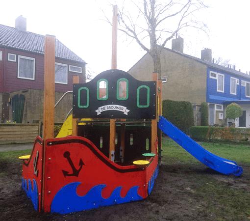 Piratenboot met achtersteven