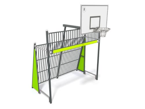 6410 Voetbaldoel met basket