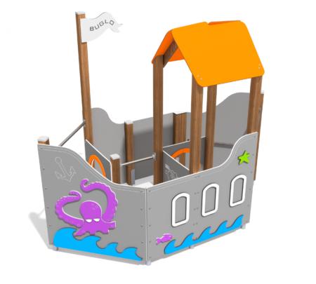 8074 houten Speelbootje