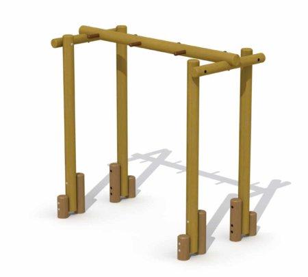 Tarzan houten hangbrug