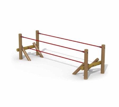 Hercules houten touwbrug