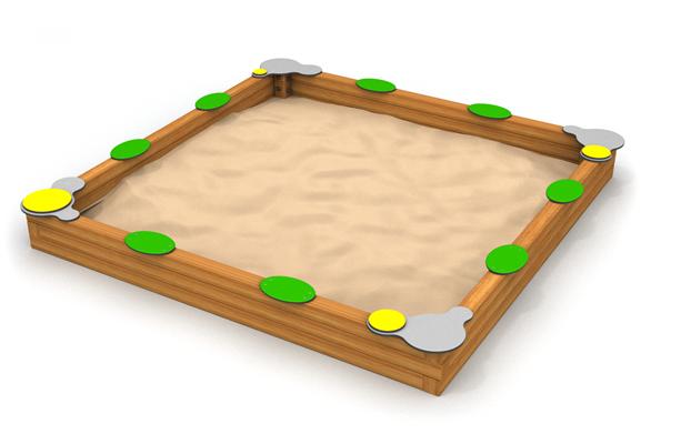 8030 Zandbak hout vierkant
