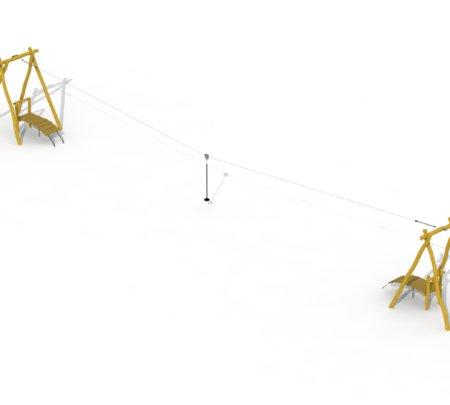 Robinia Kabelbaan met twee platformen