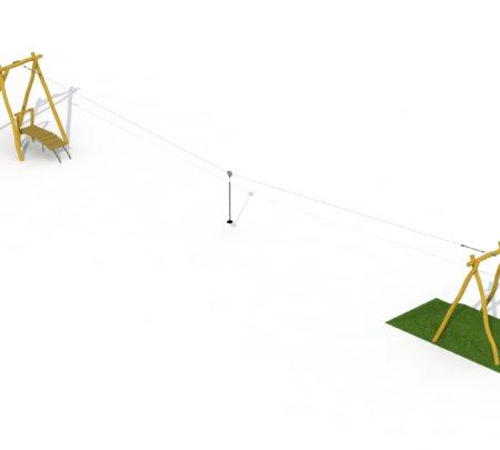 Robinia Kabelbaan met één platform
