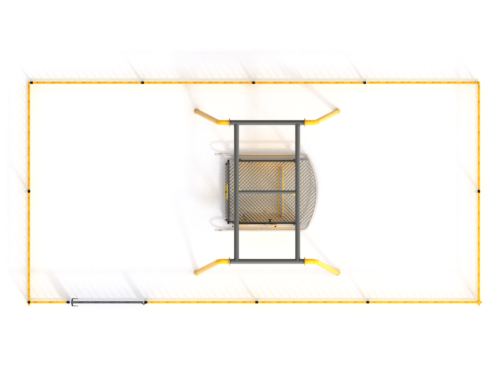 3015-H Rolstoelschommel met hek (1)