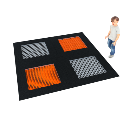 4091 Inground trampoline vierkant groot