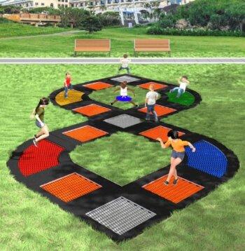 4097 Inground trampoline 15 vlaks