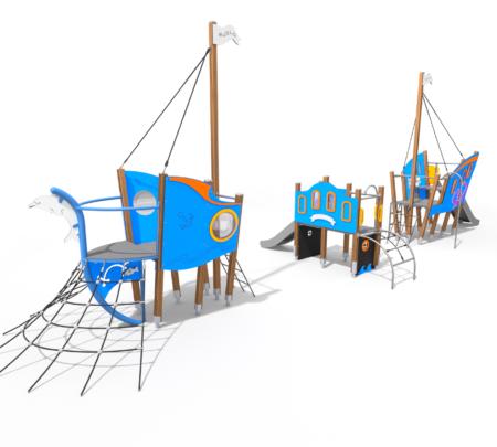 8069 Flipper houten speelboot